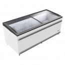 BODRUM 1850 CL - Chest cooler with sliding curved glass top