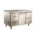 GNTC700 L1 D2 - Refrigerated worktable with 1 door, 2 drawers