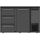 DCL-62 MU/VS - Bar cooler with one door with 3 same drawers