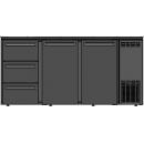 DCL-622 MU/VS - 2 door bar cooler with three drawers