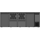 DCL-2112 MU/VS - Barska vitrina sa duplim punim vratima, 2 fioke i 2 držača za boce