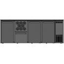 DCL-2122 MU/VS - Bar cooler with 3 doors, 1 drawer, bottle holder
