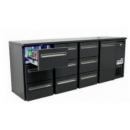 DCL-6662 MU/VS - Bar cooler with 1 doors, 9 with the same drawer