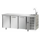 TF03EKOGNL - Hladni radni sto sa 3 vrata i elementom za pranje ruke GN 1/1