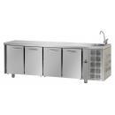TF04EKOGNL - Hladni radni sto sa 4 vrata i elementom za pranje ruke GN 1/1