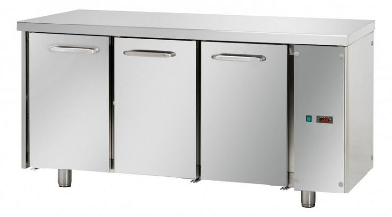 TF03EKOSG - Hladni radni sto sa 3 vrata bez ugrađenog agregata GN 1/1
