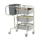 CLAIRE - Trolley with bins