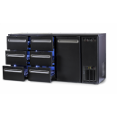 DCL-662 MU/VS - Bar cooler with 1 door, 6 with the same drawer