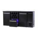 DCL-212 MU/VS - Bar cooler with 2 doors, 1 drawer, bottle holder