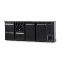 DCL-3122 MU/VS - Bar cooler with 2 doors, 2 same drawers, bottle holder plus 1 drawer