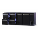 DCL-3322 MU/VS - Bar cooler with 2 doors, 4 identical drawers