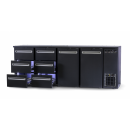DCL-6622 MU/VS - Bar cooler with 2 doors, 6 with the same drawer