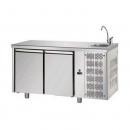 TF02MIDGNL | Hladni radni sto sa 2 vrata (GN 1/1) i elementom za pranje ruke