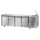 TF04MIDGNL | Hladni radni sto sa 4 vrata (GN 1/1) i elementom za pranje ruke
