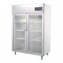 GNC 1400 L2G - Glass door INOX refrigerator