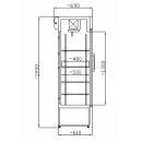 SCH 602 INOX - Glass door cooler