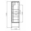 SCH 401 INOX - Glass door cooler